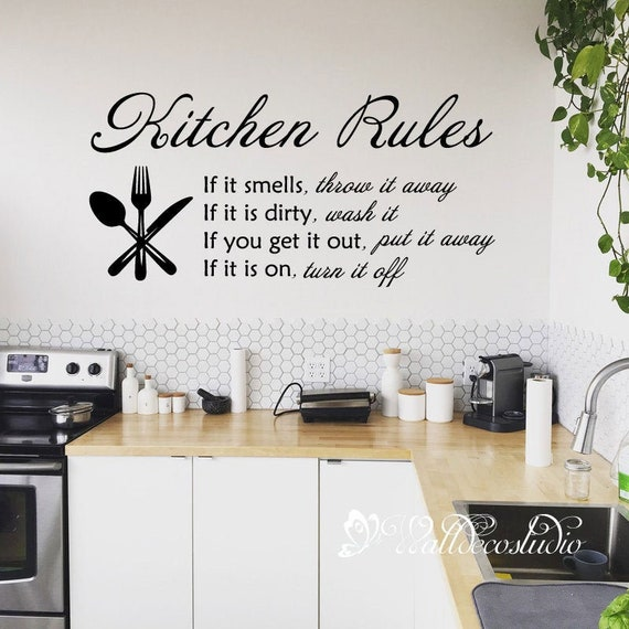 Mom/'s Kitchen Take it or leave it Kitchen Decal Today/'s menu vinyl sticker