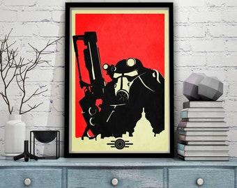 Yes Man Art Silk Poster 12x18 24x36 Fallout New Vegas