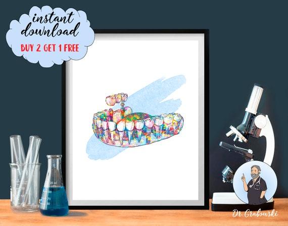 Dentist Chair Poster Print Dentist Gift Dental Hygienist Orthodontist