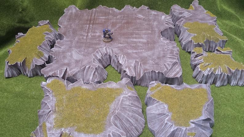 Miniature Wargames Stackable Mountain Terrain System Custom RTSystems Bundle