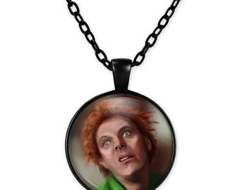 Drop Dead Fred necklace rockabilly psychobilly pin up girl kawaii kitsch retro vintage Rik Mayall cameo chain