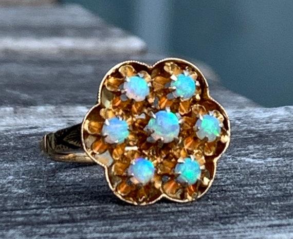 Opal Ring Natural Australian Opal Engagement Ring
