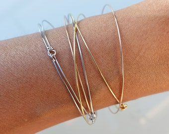 Weekly 3 golds, set of 7 bracelets pink gold, gold and silver, gift idea, party, birthday, Valentine's Day gift