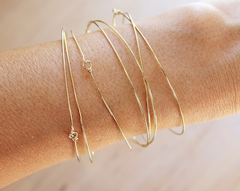 Semainier gold, set of 7 bracelets in gold color, gift idea, party, birthday, Christmas gift