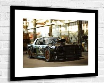 Ken Block Ford Mustang Hoonigan Canvas Wall Art 20X30 INCHES