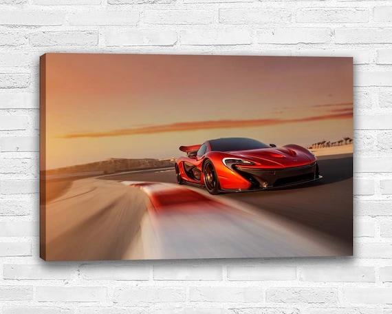 Canvas Picture McLaran P1 Vs Ferrari Super Cars Large Wall Art Poster Print