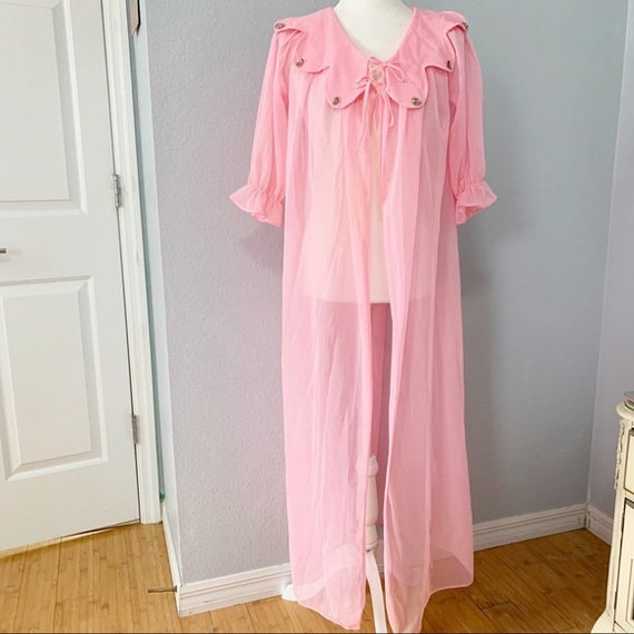 Vintage 1950's/1960's Maxi Length Sheer Pink Peign