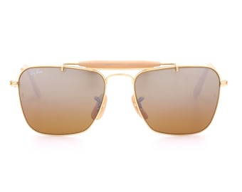 70480d159 Ray Ban B&L Small Caravan vintage sunglasses with ambermatic mirrored  lenses / iconic sunglasses made in the USA in the 80s