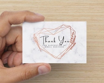 25x Thank you for supporting my small business notecards