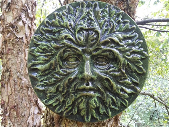 Spirit of the Woods Middle Earth Tree Forest Greenman Sculpture Decor