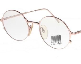 99ed583e02114 Jean Paul Gaultier Junior Gaultier 57-2175 oval steampunk pale gold metal eyeglasses  frames