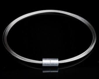 MSWA4 - Magnetic chain - Magnetic jewelry - Magnetic closure - purist jewelry - minimalist jewelry - Statement jewelry - Aluminum