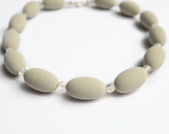 KK05 Necklace Short - Light Grey - Necklace - neckless for woman - Statement jewelry