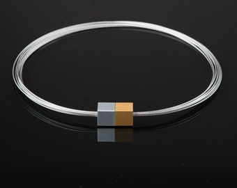 MSW2 - Magnetic chain - Magnetic jewelry - Magnetic closure - purist jewelry - minimalist jewelry - Statement jewelry - Aluminum