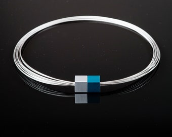 MSW3 - Magnetic chain - Magnetic jewelry - Magnetic closure - purist jewelry - minimalist jewelry - Statement jewelry - Aluminum