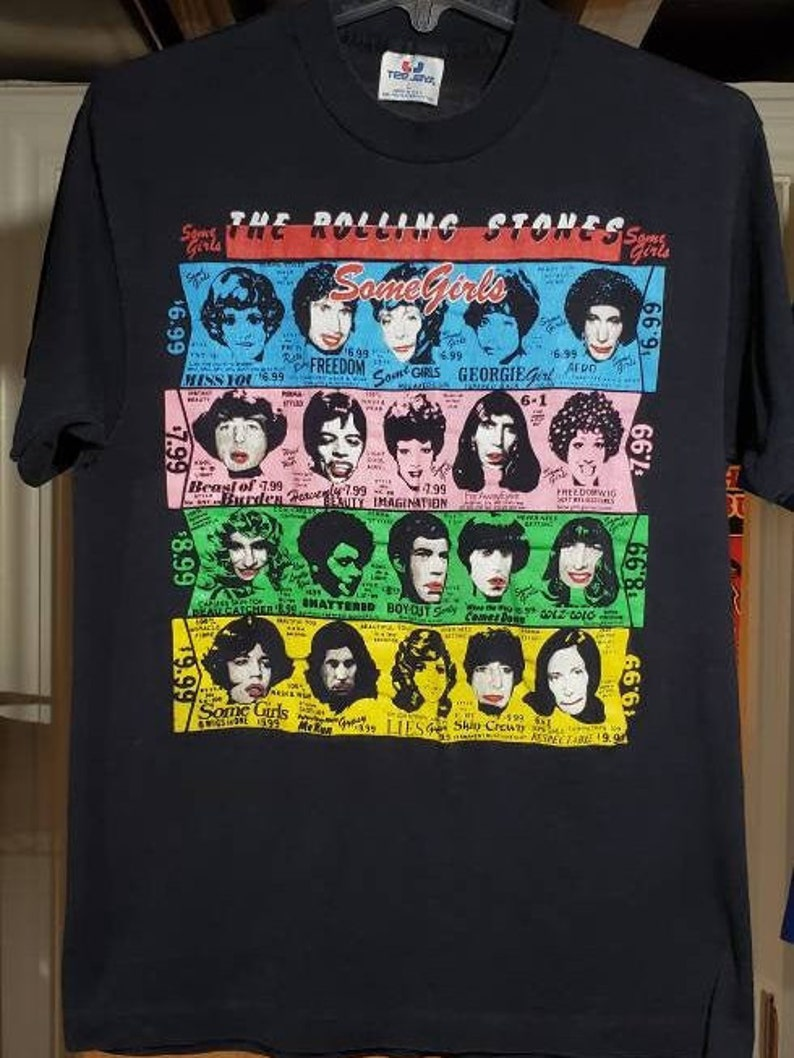 Vintage Authentic 1978 Rolling Stones Some Girls Concert Tee Shirt
