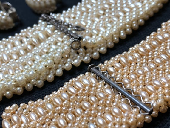 Vintage 1950's Intricately Woven Synthetic Seed P… - image 3