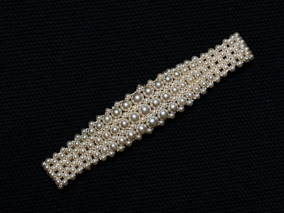 Dainty Vintage 1950's Intricately Woven Synthetic… - image 4