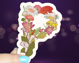 Botanical Letter O Vinyl Waterproof Sticker
