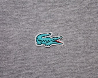 7d020552160 1.2in 0.6in 3cm 1.6cm Sky Blue Color Embroidered Iron On Patch Badge Emblem  Logo