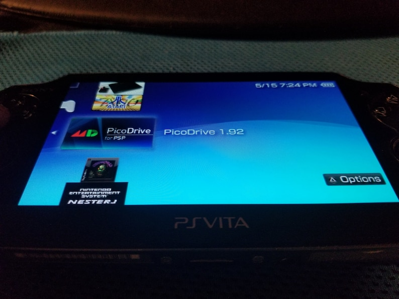 Excellent PS Vita 1000 Black White OLED Henkaku Modded Retro Game Console  w/ 128GB, 200GB or 256GB, Memory PSP PS1 SD2Vita, 2TB option