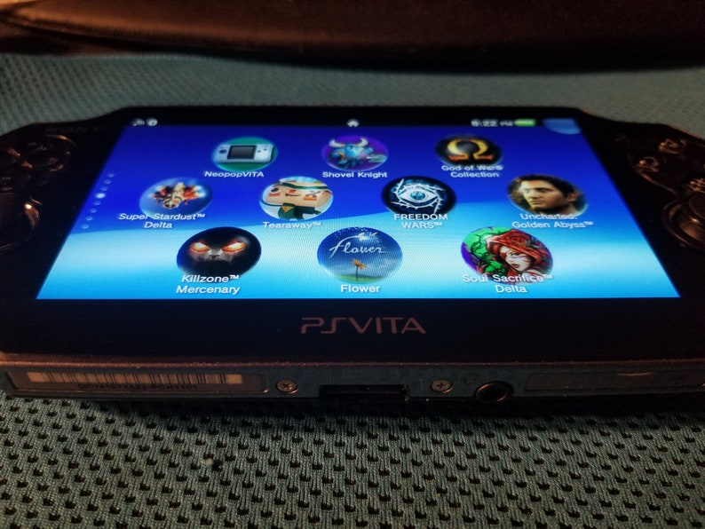 Excellent PS Vita 1000 Black OLED Henkaku Modded Retro Game Console w/  128GB, 200GB or 256GB, Memory PSP PS1 SD2Vita