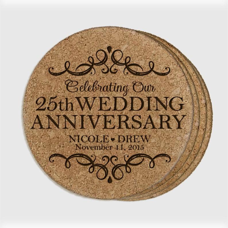 25th Wedding Anniversary Gift Custom Anniversary Gift 25th Anniversary Gifts for Husband Personalized Coasters Husband Anniversary