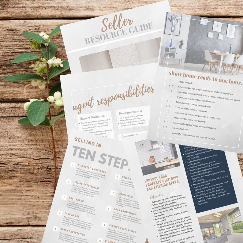 Real Estate Seller Guide | Instant Download PDF | Realtor Tools | Real  Estate Marketing | Listing Presentation | Canva Editable