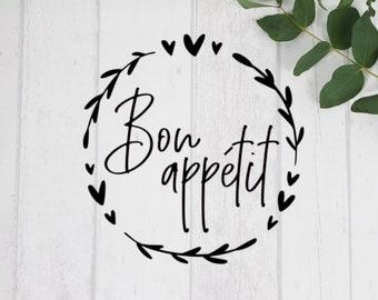 "Sticker / Glass Sticker ""Bon Appétit"""
