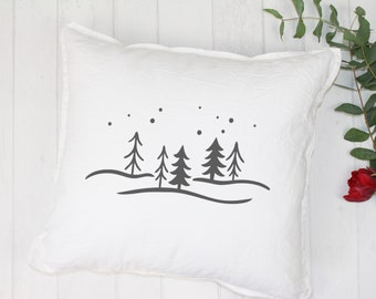 "Pillowcase ""Winter trees"""