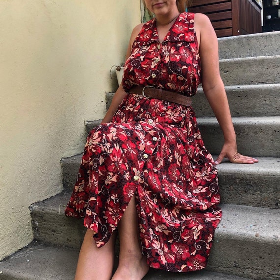 1960s / 1950s Vintage Tiki Dress