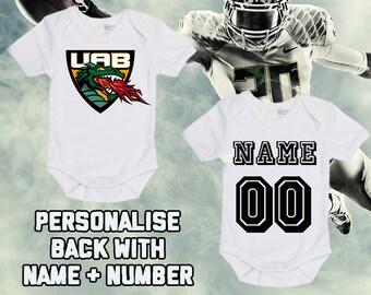 d5c2c990c NCAAF UAB Blazers Personalised BabyGrow One Piece Bodysuit Vest College  Football