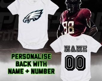 fc72e596f NFL Philadelphia Eagles Personalised BabyGrow One Piece Bodysuit Vest  Football