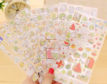 Diary Stationery Kawaii Tea and Laptop Personalised Planner Stickers Journal