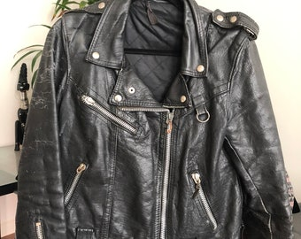 New Mens Harley Davidson Eagle Rider Black Moto Cowhide Leather Jacket 40/% Off