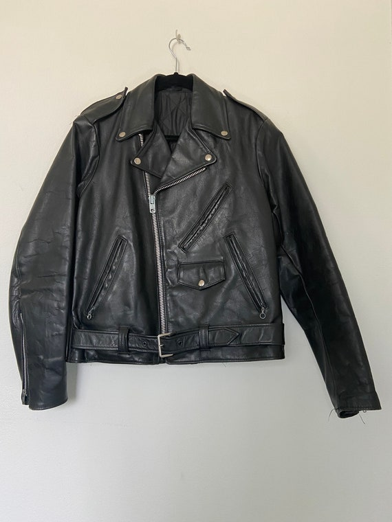 Vintage Classic Biker Leather Jacket