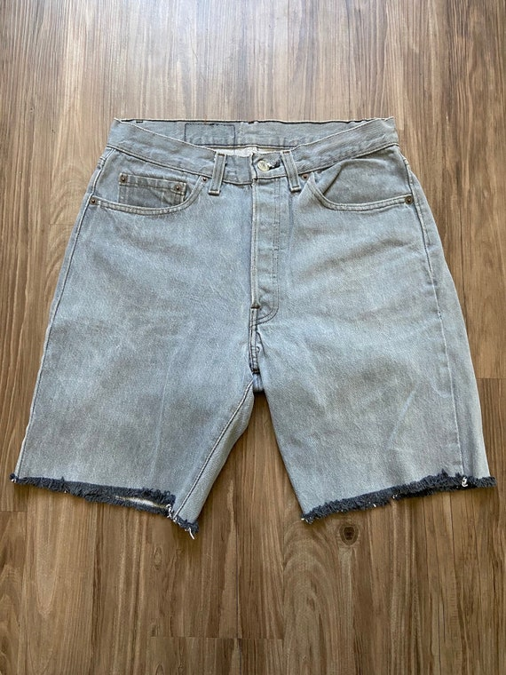 Vintage Levi's Cut Off Denim Bermuda Jean Shorts