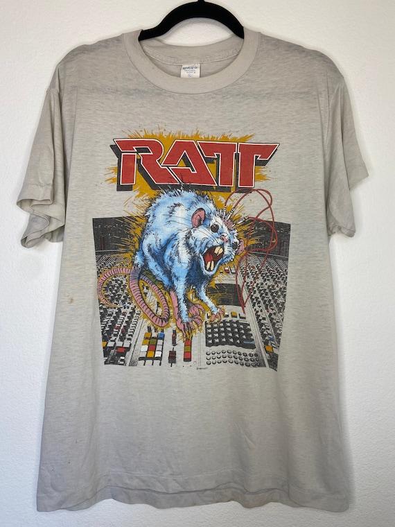Vintage 1984 RATT Band Ratt 'N' Roll Tour Graphic