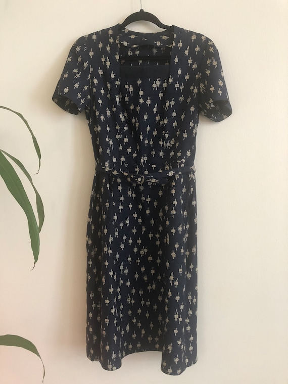 Vintage 1940's/1950's Classic Abstract Print Dress