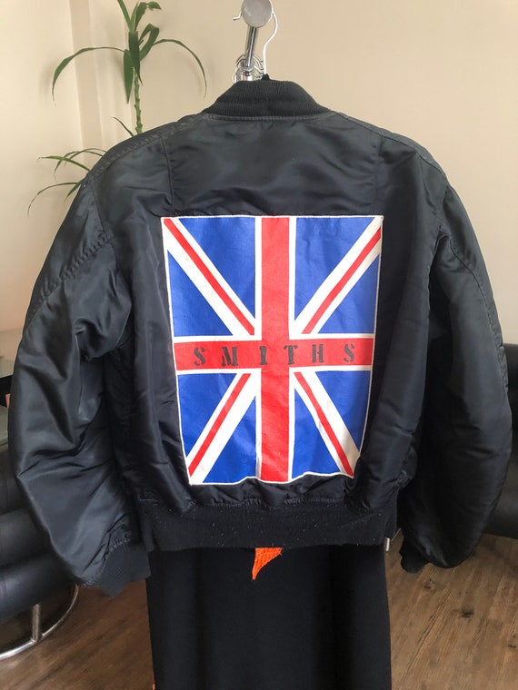 """Vintage 80's-90's Alpha Bomber Jacket with """"The Sm"""