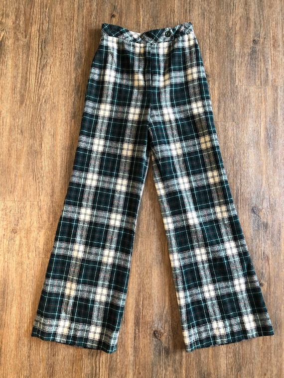 Vintage 1970's JH Collectibles Plaid Bell Bottom F