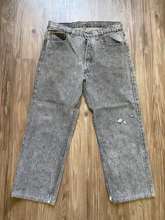 Vintage Levi's Faded Black 501 Denim Jeans