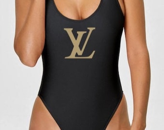 a895bbe6b8ab Eightys Throwback One Piece Designer Inspired Louis Vuitton Swimsuit many  colrs and sizes S-2X