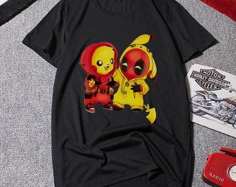 069ab15e Deadpool and Pikachu mashup shirt, Deadpool shirt ,Pikapool shirt, Pokemon  Charizard shirt, Deadpool tshirt, Anime shirt, Birthday Gift,Gift