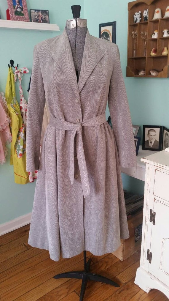 Vintage 1970s Gino Rossi for Wilson Suede coat / G