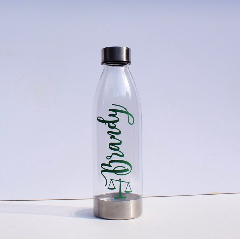 Custom 22oz. BPA free Water Bottle Personalized for lawyer image 0