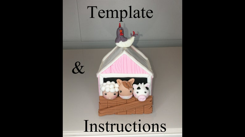 Barn cake topper template & instructions instant download image 0