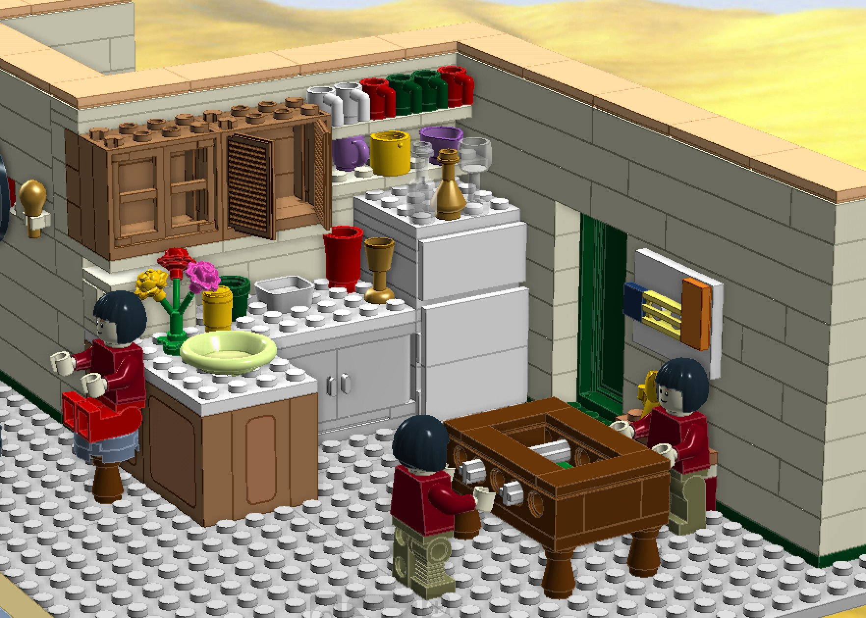 Joey's apartment of the TV show FRIENDS Lego MOC | Etsy