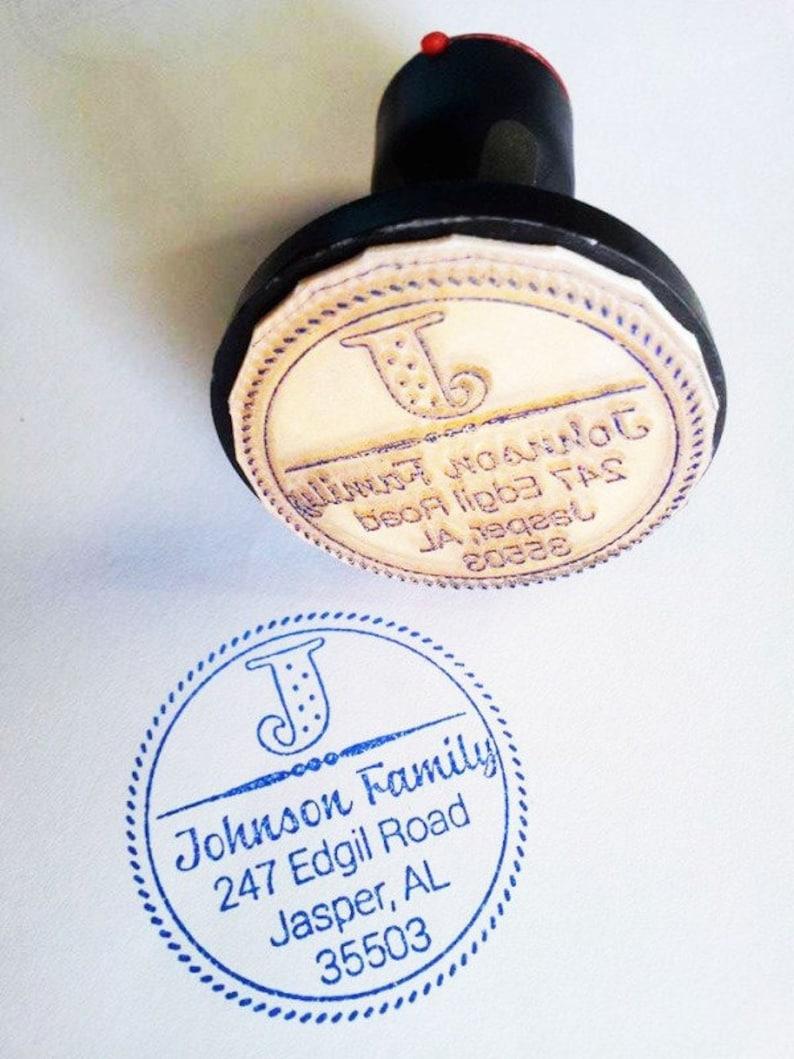 Self Inking Return Address Stamp Custom Stamp Family Address Stamp Housewarming Anniversary Wedding Gift  AI 66