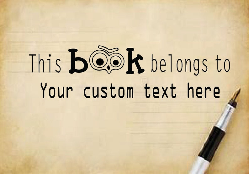 BI 55 This Book Belongs Stamp,Personalised Book Stamp Personalized Stamp Gift Classroom Return To
